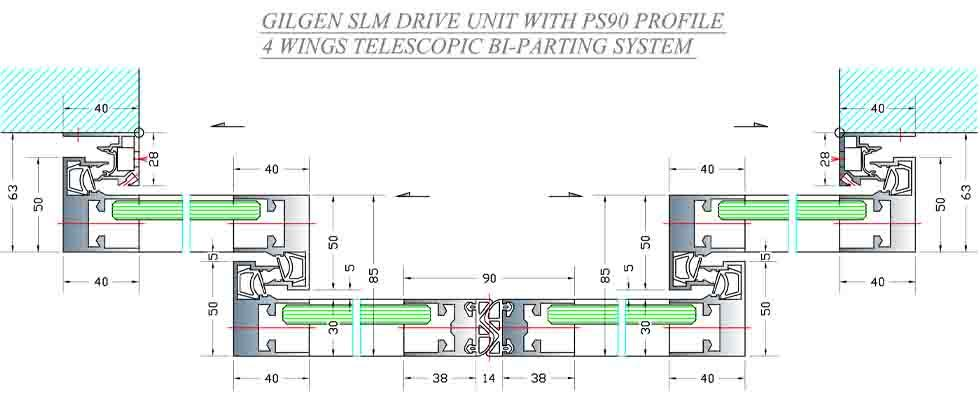 GILGEN PROFILES - Smoke proof / Low air permeability